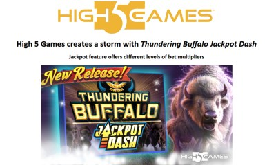 High 5 Games creates a storm with Thundering Buffalo Jackpot Dash