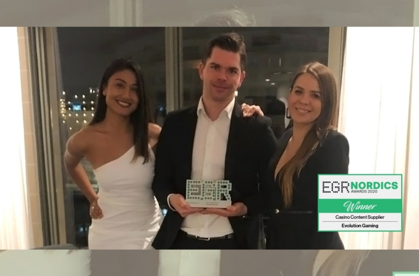 Evolution Crowned Casino Content Supplier Of The Year At The EGR Nordics Awards