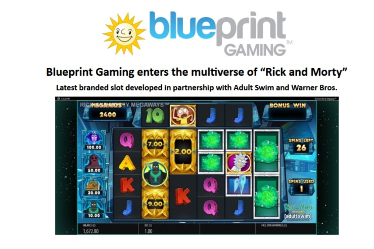 "Blueprint Gaming enters the multiverse of ""Rick and Morty"""