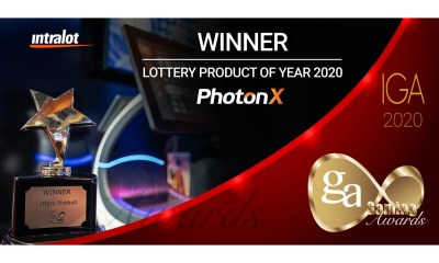 """PhotonX Named """"Lottery Product of the Year"""" at the IGA's Awards 2020"""