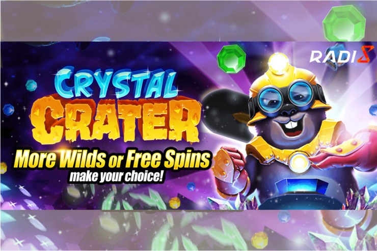 Crystal Crater, a brand-new slot game by Radi8, that give players options
