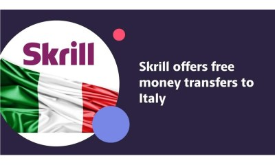 Skrill offers free money transfers to Italy