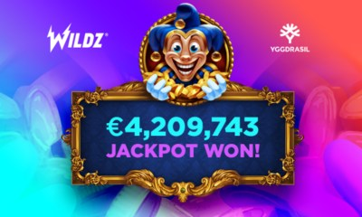 Wildz player lands €4.2m jackpot on Yggdrasil's Empire Fortune slot