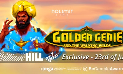 Nolimit City & William Hill group premier, Golden Genie & The Walking Wilds