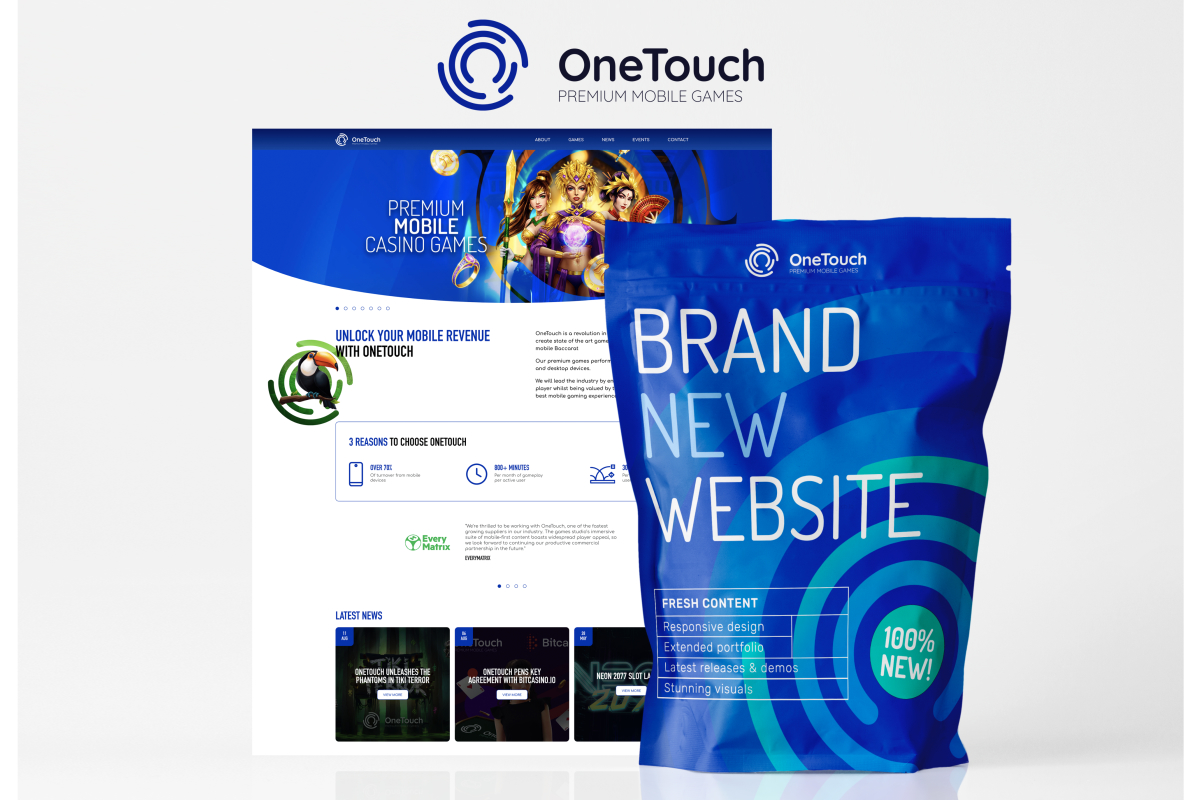 OneTouch meluncurkan situs web baru yang menampilkan portofolio konten yang mengutamakan seluler