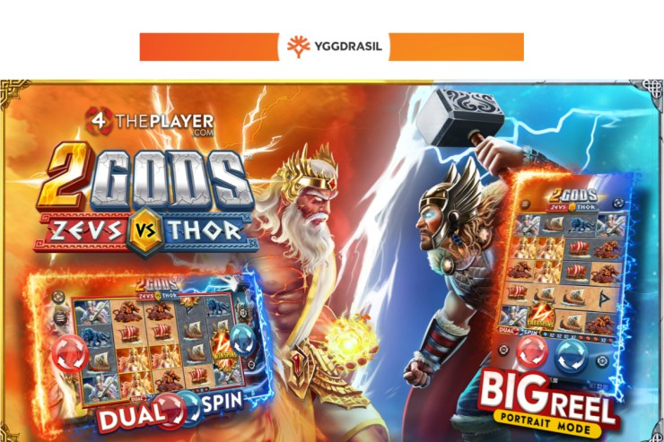 Yggdrasil releases electrifying 2 Gods: Zeus vs Thor in partnership with 4ThePlayer.com