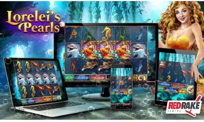 Be enchanted by the mermaid's songs and immerse yourself in the waters of Lorelei's Pearls, the new video slot from Red Rake Gaming