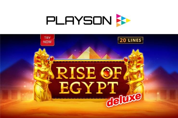 Playson membangkitkan Tanah Firaun dengan Rise of Egypt Deluxe