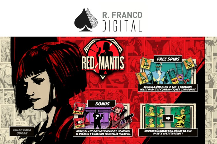 R. Franco Digital's secret agent Red Mantis reports for duty