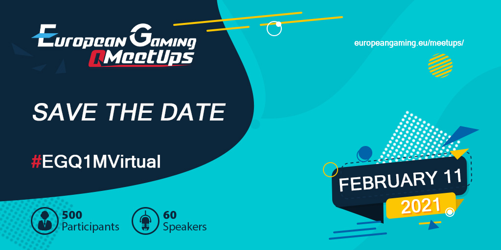 Save the date for the first Virtual Quarterly Meetup for the European and CIS Gaming industry in 2021