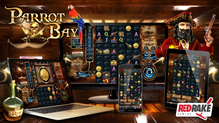 The world's most feared pirate is taking over Parrot Bay, the new video slot from Red Rake Gaming