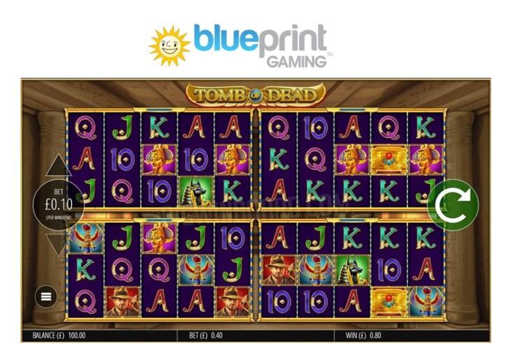 Blueprint meningkatkan seri Power 4 Slots ™ dengan slot petualangan Tomb of Dead