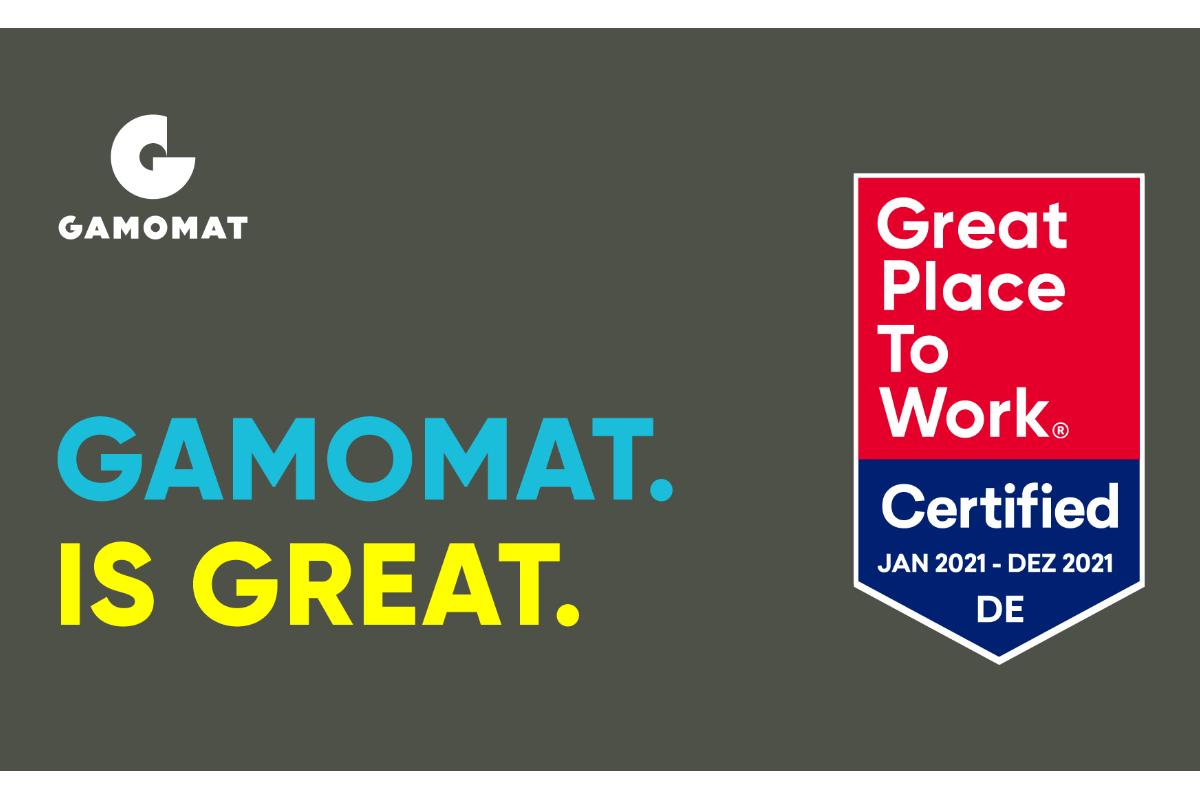 GAMOMAT dianugerahi sertifikasi Tempat Kerja Yang Bagus