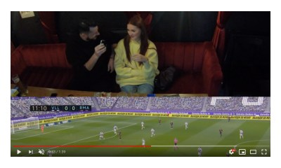 Parimatch and LaLiga help fan propose marriage during match