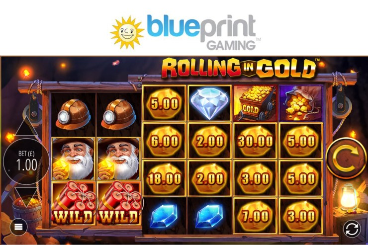 Golden nuggets to be found in Blueprint's new adventure Rolling in Gold