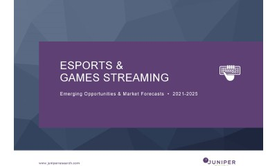 eSports & Games Streaming to be Worth $3.6 Billion Globally by 2025, as Sponsorship Drives Future Growth