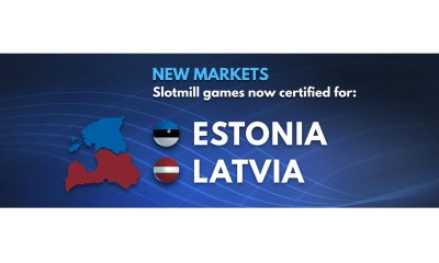 Slotmill certified for Estonia and Latvia