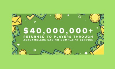 AskGamblers Celebrates $40 Million of Unfairly Confiscated Money Returned to Players