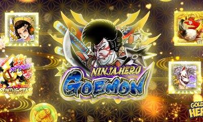 Golden Hero releases the first game, Ninja Hero Goemon, in cooperation with Racjin