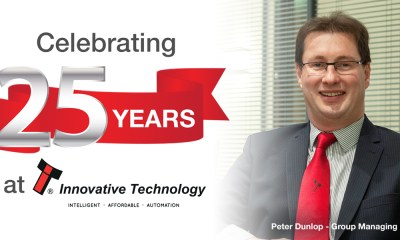 Group Managing Director Peter Dunlop celebrates 25 years at ITL