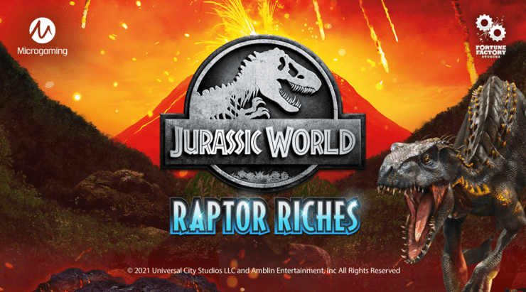 Microgaming runs with dinosaurs once again in Jurassic World: Raptor Riches