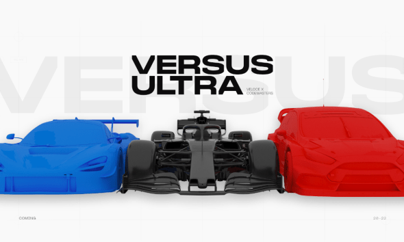 Veloce joins forces with Codemasters to launch ground-breaking VERSUS ULTRA Series