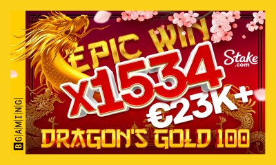 More than €20K in 1 spin: BGaming's new Dragon's Gold 100 surprises players with epic wins!