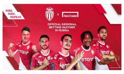 Liga Stavok becomes official sports betting partner of AS Monaco in Russia