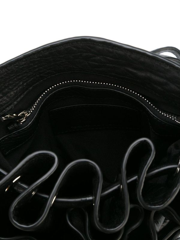 Alexander wang 20r0185 small diego pebbled black with rhodium