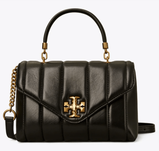 TORY BURCH 83943 KIRA QUILTED SMALL SATCHEL BLACK