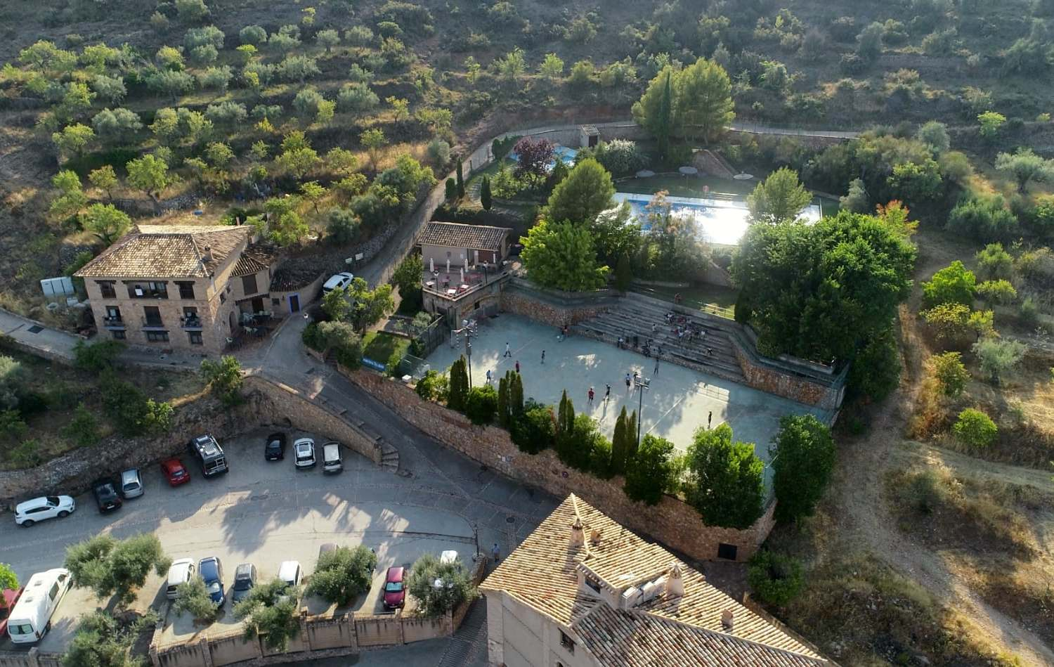 Alquezar in the Pyrenees Mountains