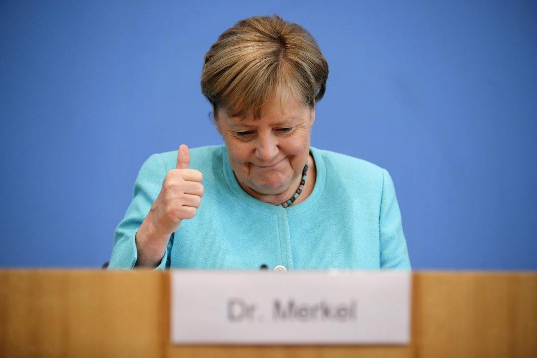 German Chancellor Merkel says pipeline agreement good for Ukraine
