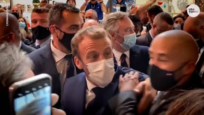 French President Thrown with Egg