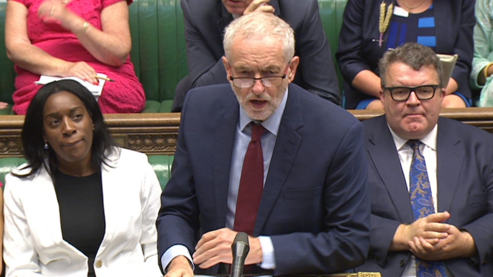 May warns against Corbyn leading Brexit