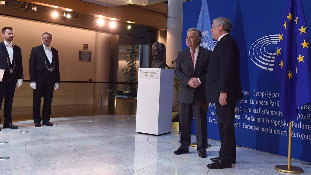 Guterres addresses Europarliament