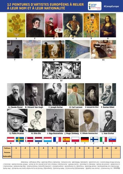 Peintures à relier - Europe Direct Citoyens & Territoires Grand Est