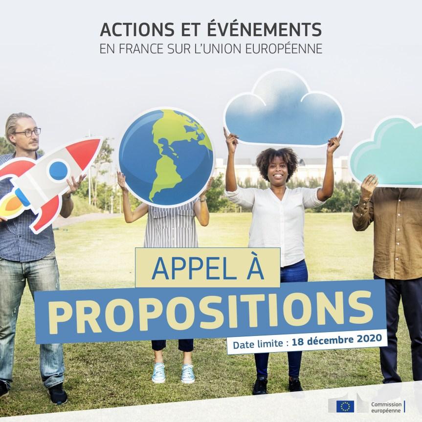 Appel à propositions pour la mise en place d'actions et d'événements en France sur l'Union européenne