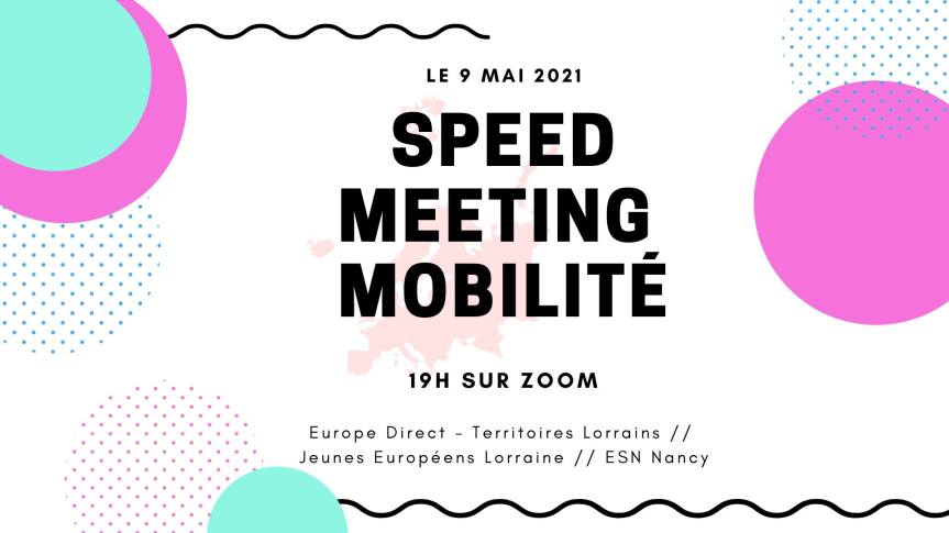 Save the date : speed meeting, où comment tout savoir sur les mobilités