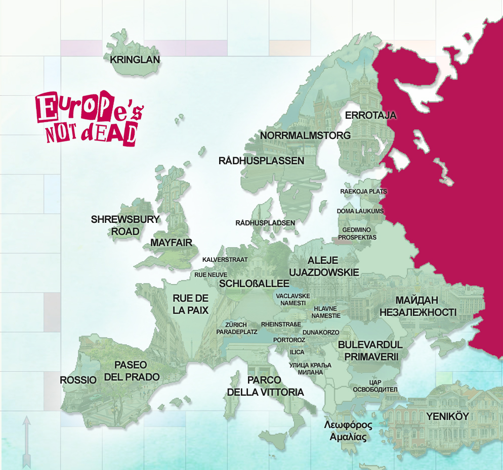 European Monopoly Streets