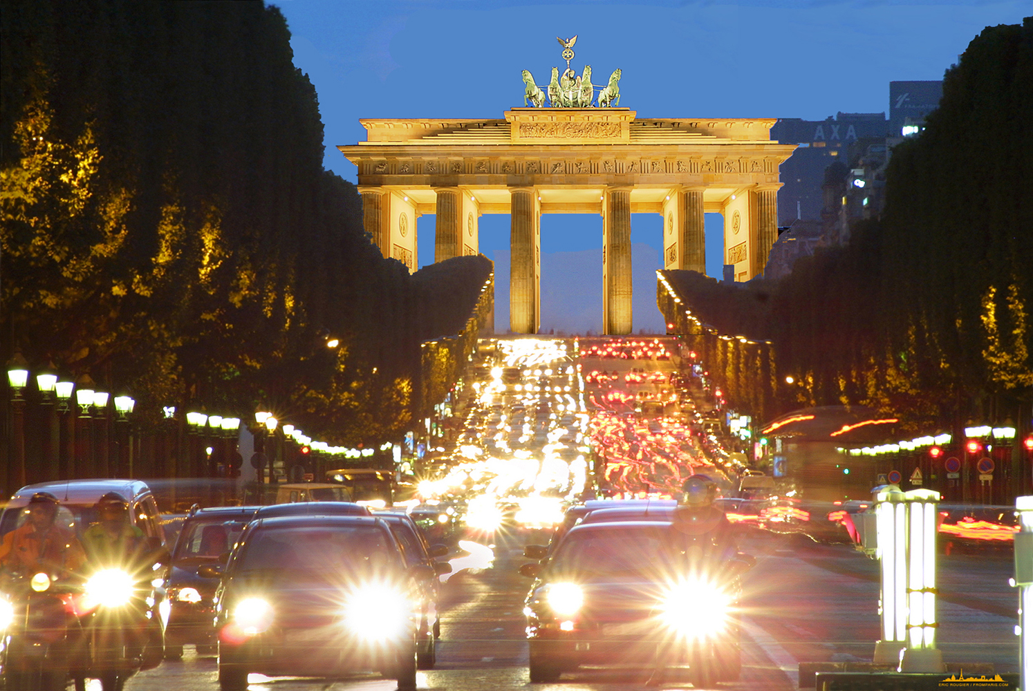 What if Brandenburg gate were in Paris
