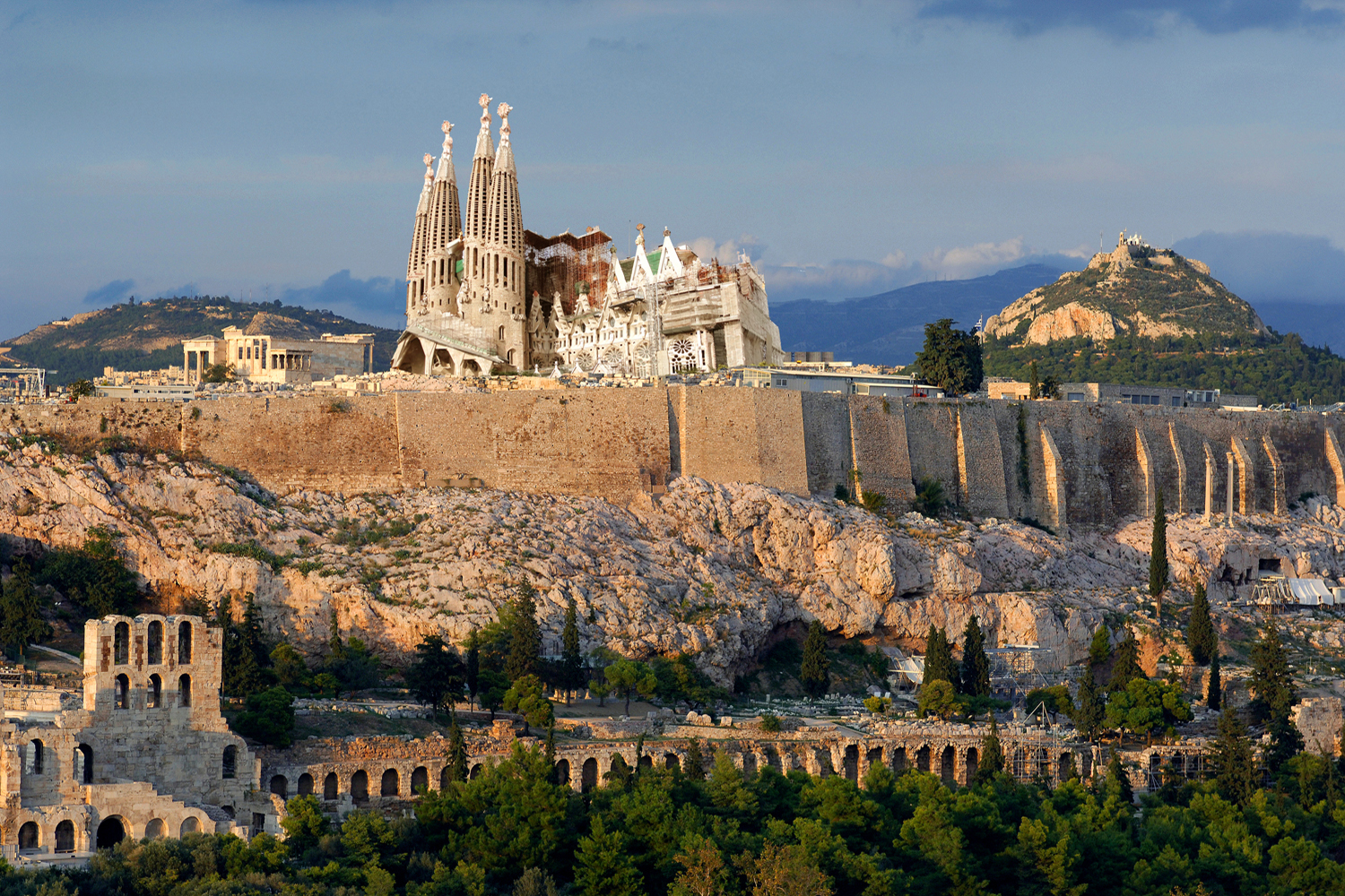 What if the Sagrada Familia were in Athens