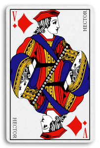 French-Suited Playing Cards - Carreaux - Diamonds 2
