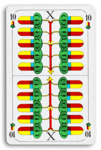 German-Suited Playing Cards - Eichel - Acorns