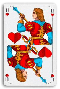German-Suited Playing Cards - Herz - Hearts 2