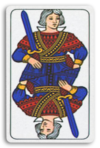 Italian-Suited Playing Cards - Spade - Swords 2