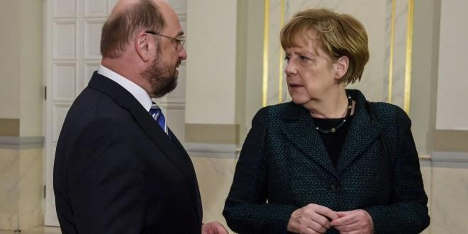 Schulz, Merkel