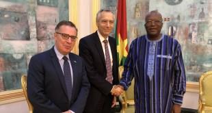 Zlava-velvyslanec EU v Burkina Faso, Figel, prezident Burkiny Faso