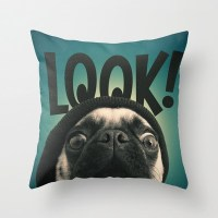Look Its Lola The Pug Pillow