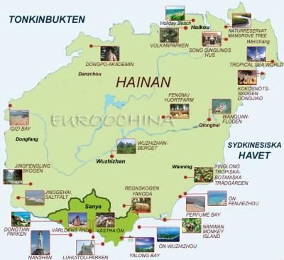 Karta över Hainan