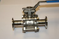 """Sanitary Ball Valve Clamp End Connections Sizes 0.5""""-4"""""""